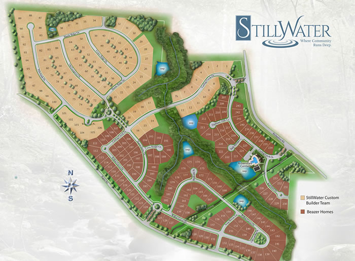 StillWater Estates Apex NC Site Map